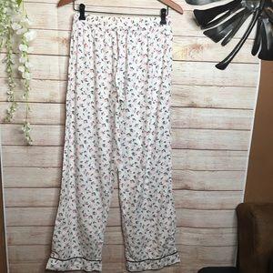 Victoria's Secrets white floral pijama pants M